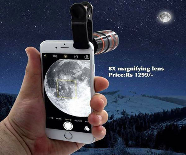 Zoom mobile phone telescope lens