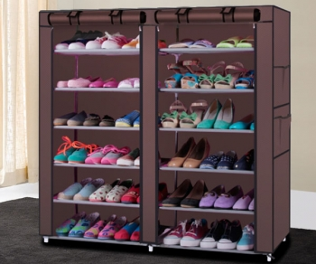 6 Layer 12 Grid Shoe Rack