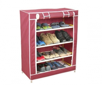 Shoe Rack and Wardrobe 4 Layer